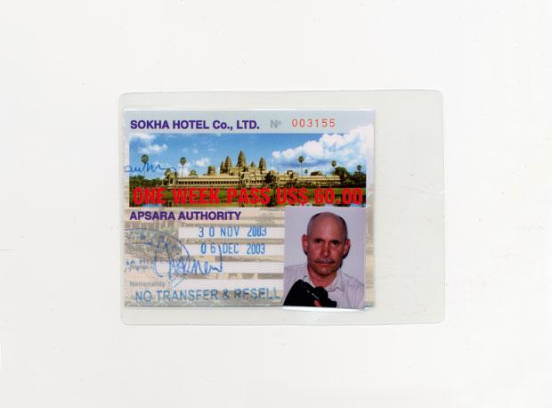 کارت عبور و مرور موقت یک هفتهای برای معبد انگکور وات